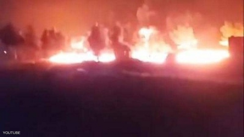 A video clip circulated on social media minutes after the attack shows the severe fires that engulfed the convoy after the Russian attack.