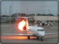 A plane caught fire before leaving from Siberia to Vietnam