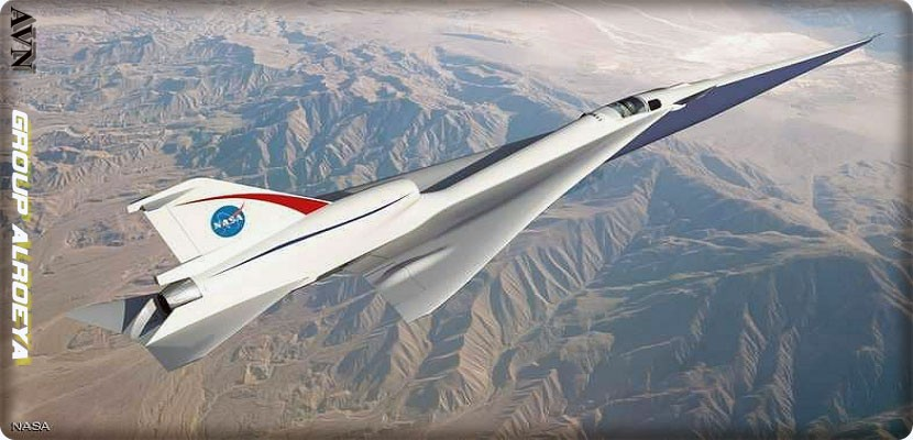 "Passenger aircraft ""NASA X"", supersonic"