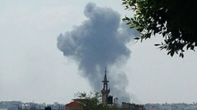 An Interior Ministry spokesman said that preliminary information indicates that the explosives were planted in a wheelbarrow in