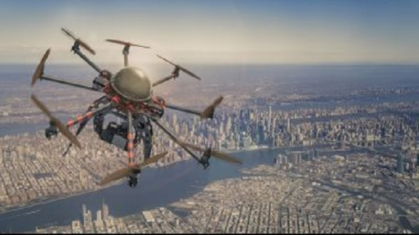 New use of drones in civil aviation