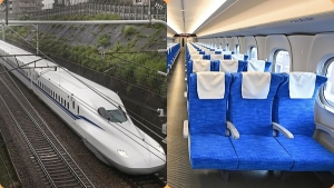 Japan's N700S train runs at a speed of 360 kilometers per hour