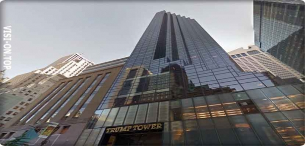 «Trump Tower», New York City center, about 58 storeys