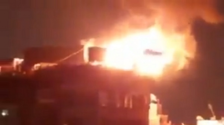 Egypt: The burning of the Panorama Tanta Hotel, video