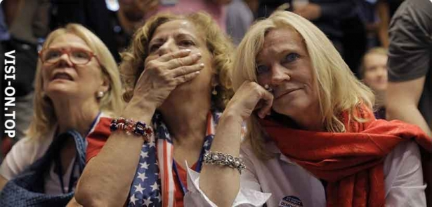 Supporters of Hillary Clinton, have fallen in grief after the crash.