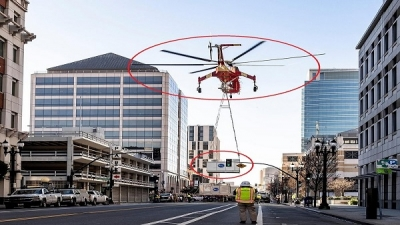 An accident in the American city of Oakland caused by a helicopter