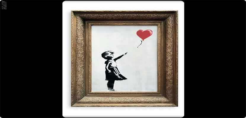 "The mystery of the ""Girl with a Balloon"" painting of the punksie that ripped themselves up and rose in price"