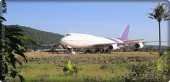 Residents of a Thai village are surprised by a giant plane in the middle of their fields
