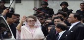 Bangladesh opposition leader Khaleda Zia at the court in Dhaka