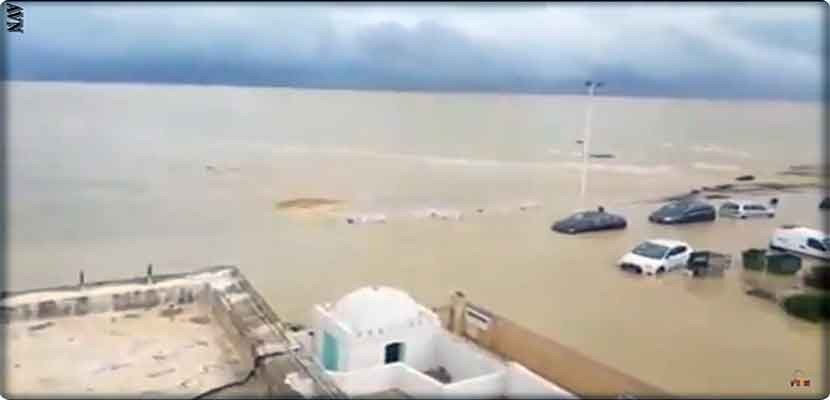 Video, landslides and dead in torrential rain on Tunisia and warnings from Tsumani