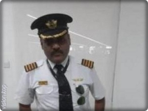 "An Indian named a pilot in the German airline ""Lufthansa"""