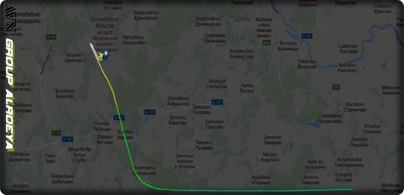The plane's route, Sky News reported