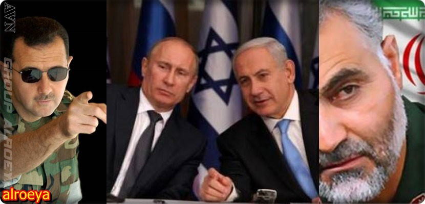 The outbreak of war between Syria and Israel after a meeting between Netanyahu and Putin