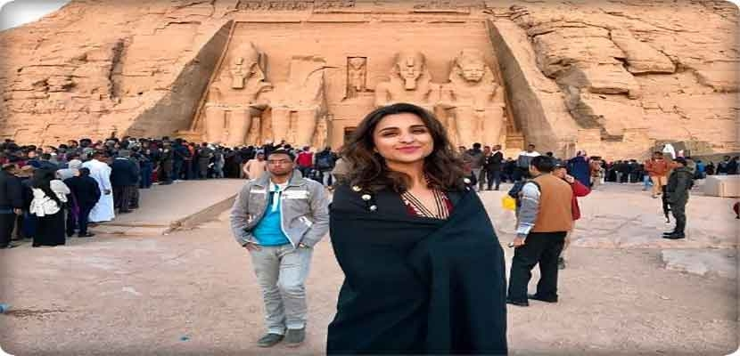 Photos Indian actress Parineeti Chopra in Egypt