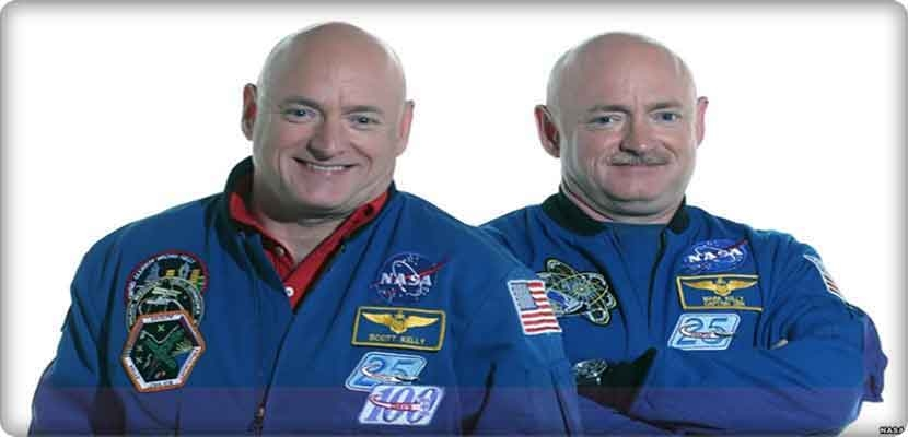 Why are the signs of aging do not appear on the astronauts?