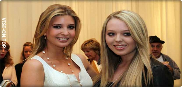 Photos of Tiffany and Ivanka Trump, daughter of the new US president