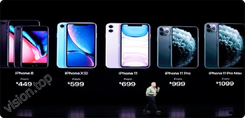 The latest versions of Apple iPhone