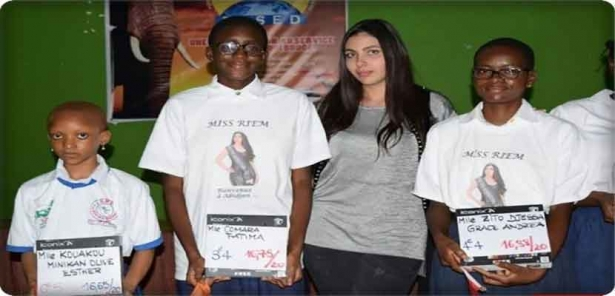 Miss Moroccan teenage Rim Kadri is a humanitarian initiative in Ivory Coast