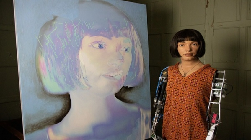 """Ai Da"" is the first female ""robot"" artist in the form of a human being"