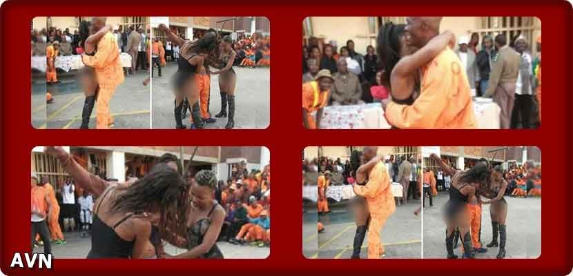 South Africa: dancers undressing, to entertain criminals at Johannesburg Prison