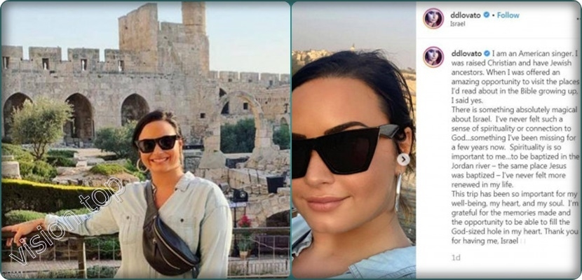 Israel has put American singer Demi Lovato in an embarrassing situation