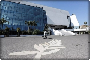 The Cannes Film Festival space houses homeless people
