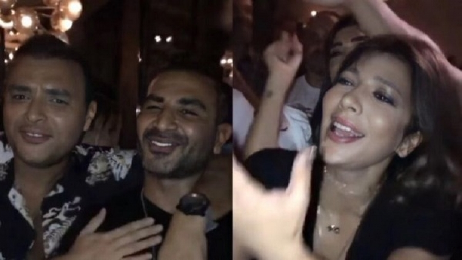 Asala Nasri was drunk, singing, dancing and hugging with the men at the party