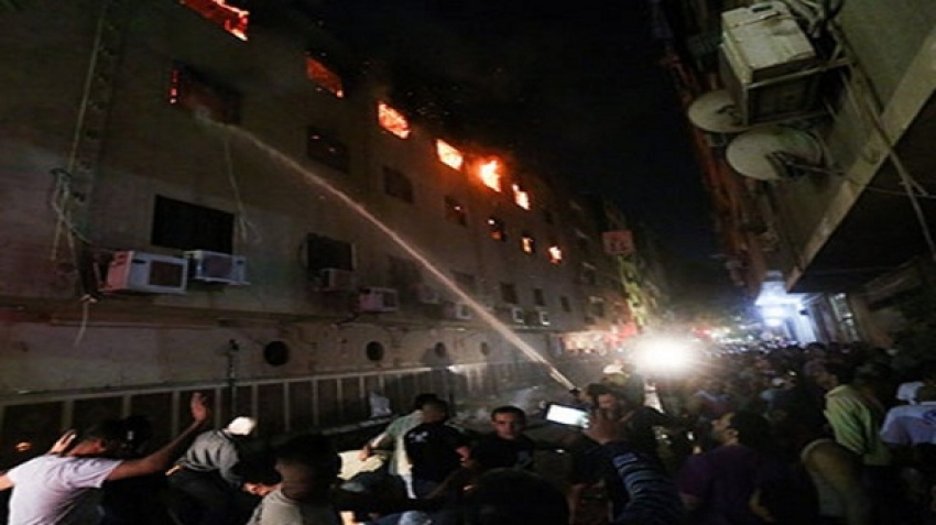 To coincide with the Christian holidays, a fire engulfed the Mar Mina Church, in Giza Governorate