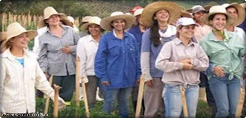 The women of the town of #Nueva_de_cordiero in #Brazil