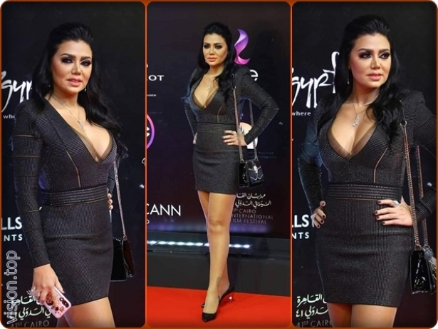 Rania Youssef is again controversial in her clothes at the Cairo Film Festival