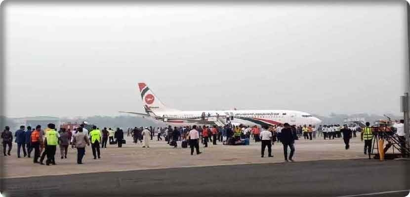 Attempt to hijack a passenger plane between Dhaka and the UAE