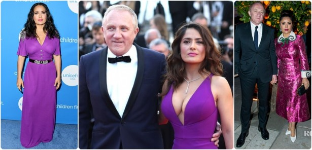 In pictures, the husband of the star Salma Hayek takes advantage of her body