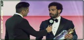 The moment that Mohammed Salah was crowned the English Premier League Player of the Year award