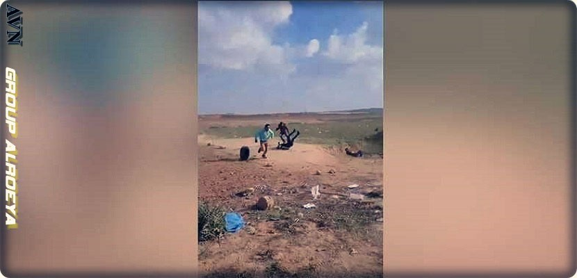 Pictures of a video showing an Israeli sniper killing a Palestinian from behind