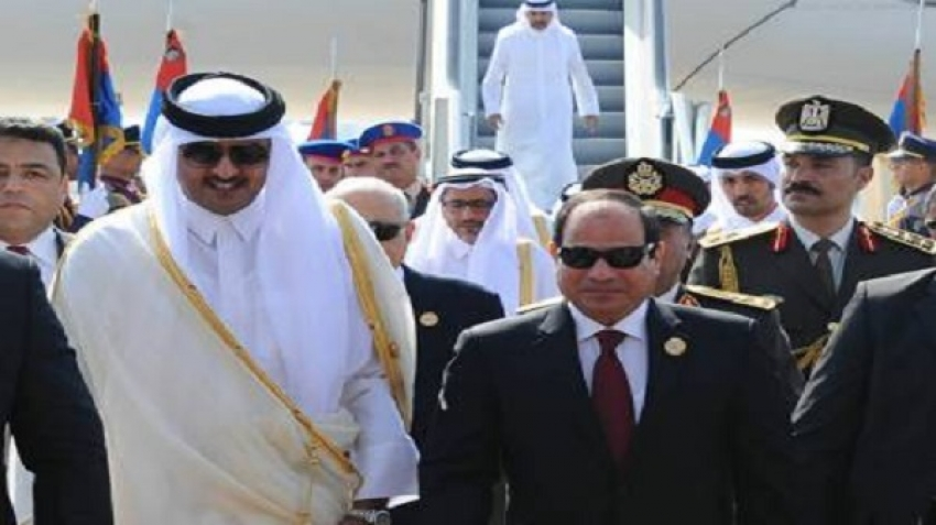 Pledges from Qatar to Egypt for reconciliation