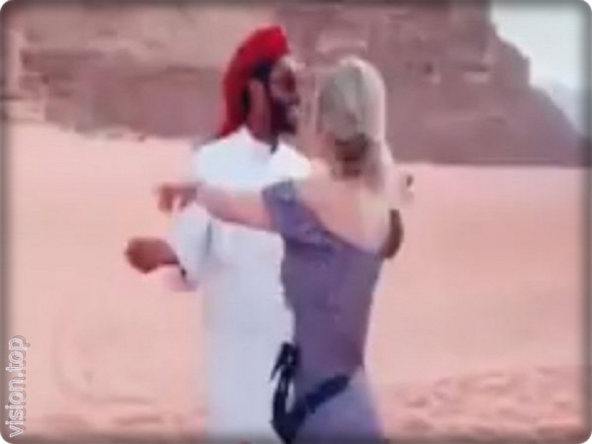 The fact of the dance video, in Madain Saleh, Saudi Arabia