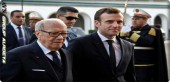 President of Tunisia receives French President in Carthage