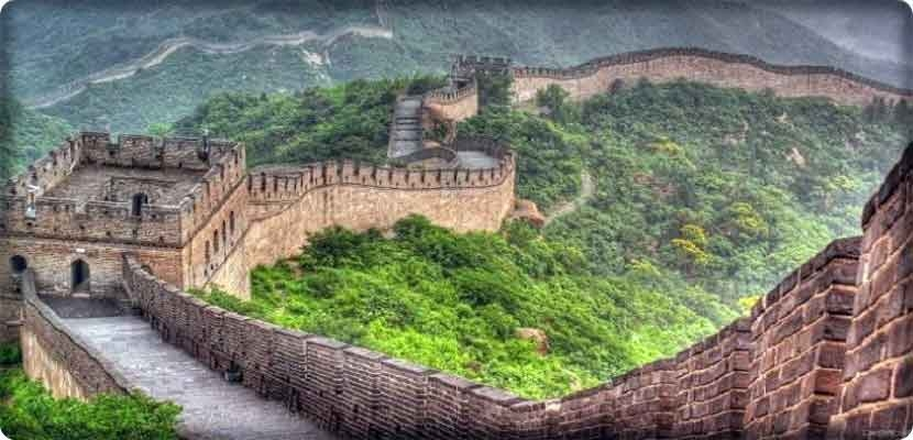 Remains of the wall of China are still standing