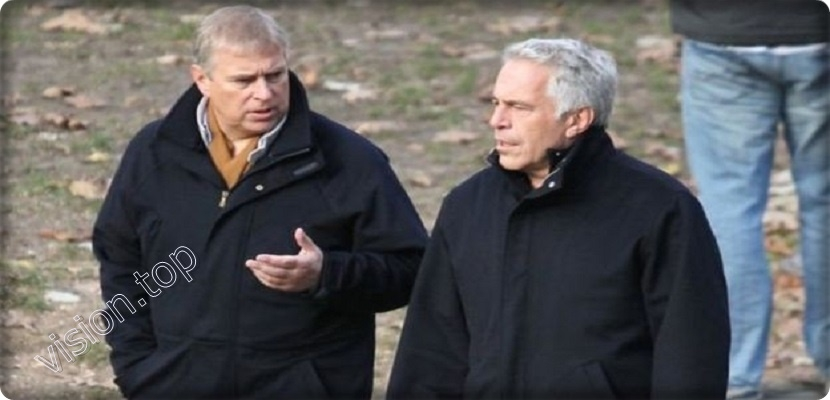 Prince Andrew, son of Britain's Queen, left, and wealthy wealthy man Jeffrey Abstein
