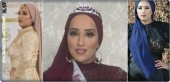 Beauty contest England, Maria Mahmoud is wearing a brocini