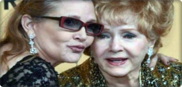 Just hours after the death of actress Carrie Fisher, the departure of her mother Debbie Reynolds