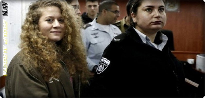 The trial of Palestinian Aahd Al-Tamimi in front of the Israeli military court in closed session