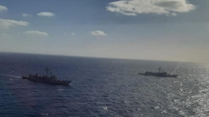 Joint training between the Egyptian and Spanish naval forces