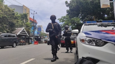 A bomb exploded inside a Catholic Church in Indonesia