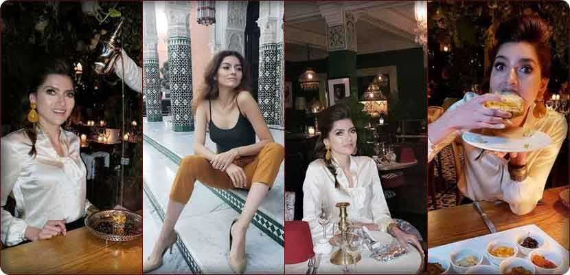 Photos document the love of the American actress Blanca Blanco for the Kingdom of Morocco