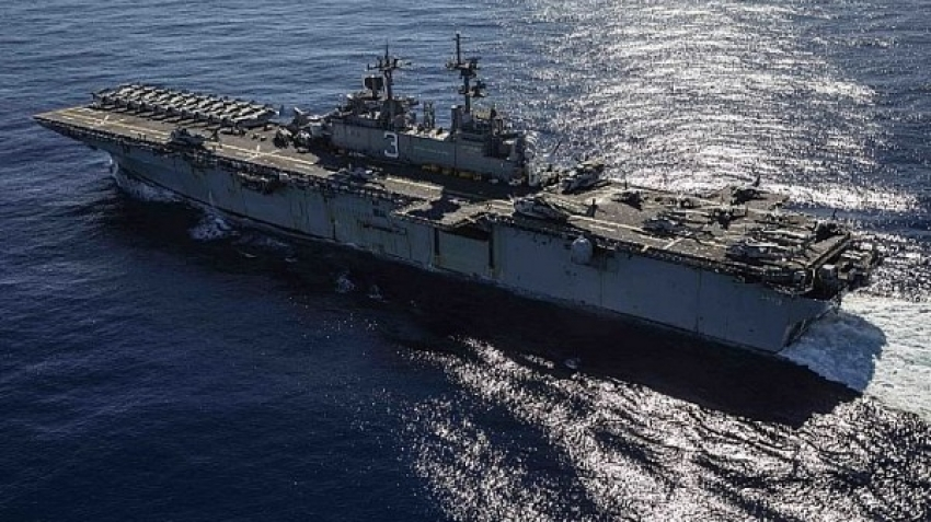 US Fifth Fleet foils weapons shipment, source and destination unknown