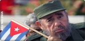 Fidel Castro, the former Cuban leader known for wearing military uniforms and cigar smoking for many years in power.