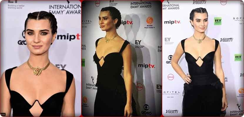 Turkish star Tuba Buyukstein with an open chest at the Emmy Awards is controversial
