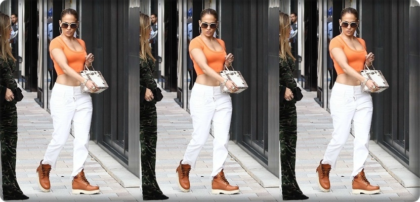Paparazzi stalks Jennifer Lopez while shopping in Miami, Florida