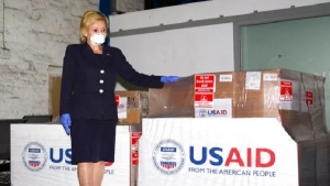 The Ambassador of the United States of America to South Africa, Lana Marks